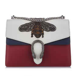 Vintage Authentic Gucci White Embellished Dionysus Shoulder Bag Italy