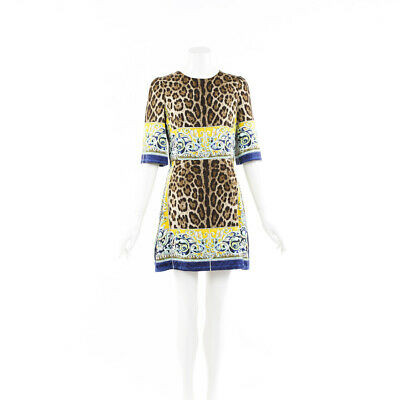 Dolce & Gabbana Animal Print Mini Dress SZ 42