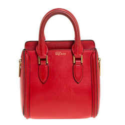 Alexander McQueen Red Leather Mini Heroine Bag