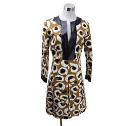 Gucci Brown Animal Print Dress sz 4