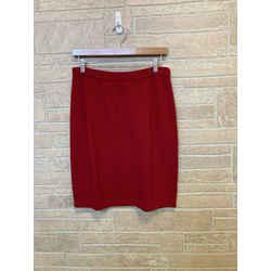 St. John Red Straight Knit Skirt