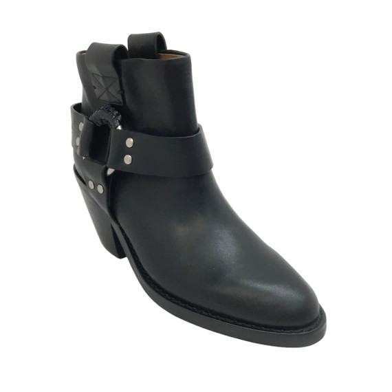 See by Chloe Black Western Ring Boots/Booties
