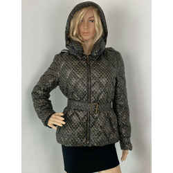 Burberry Brit Black and Gold thin Puffer Down Jacket Size L Authentic B242