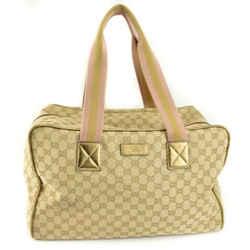 "Gucci: Beige, ""gg"" Logo & ""web Stripe"", Logo Large Duffel/weekender Bag (sp)"