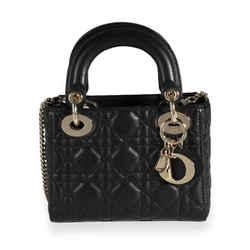 Dior Black Cannage Lambskin Mini Lady Dior Bag
