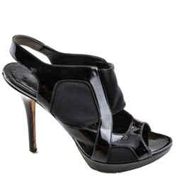 Dior Stretch Sandal Noir Patent Calf & Ela