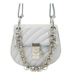 Chloe Mini Drew Bijou Calfskin Shoulder Bag Grey