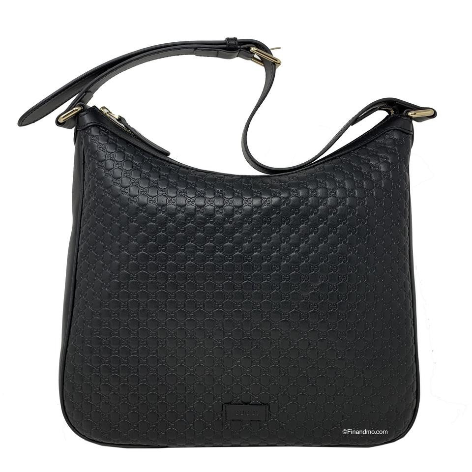 New Gucci Black Leather Micro Gg