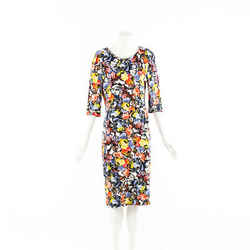 Erdem Dress Multicolor Floral Jersey Knit SZ 16 UK