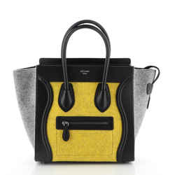 Luggage Bag Leather with Felt Micro
