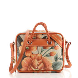 Blanket Square Bag Printed Leather Small