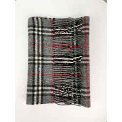 Burberry Dark Gray 100% Cashmere Scarf
