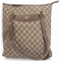 Auth Gucci Gg Plus Women's Gg Plus Shoulder Bag,tote Bag Brown