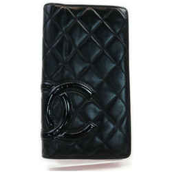 Chanel Black Quilted Leather Cambon Ligne Yen Long Flap Wallet 861560