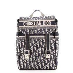 Flap Backpack Oblique Canvas Mini