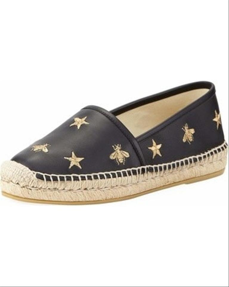 Gucci Star Bee Espadrille Flats Slides