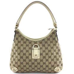 Gucci Abbey D Ring Gg Guccissima Supreme Canvas And Leather