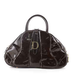 Vintage Saddle Bowler Bag Patent Leather Medium