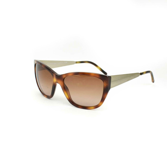 Burberry: Tortoise Brown & Gold, Logo Sunglasses (oo)