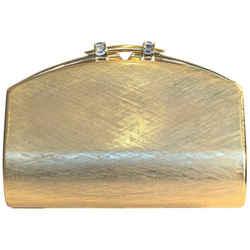 Rodo Gold Metal Evening Clutch
