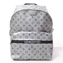 Auth Louis Vuitton Monogram Reflect Apollo Rucksack Backpack Silver Leather Bag