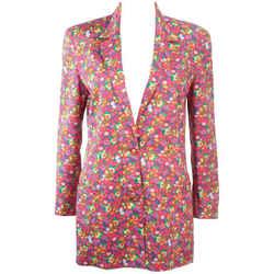 GIANNI VERSACE Vintage Floral Print Blazer, Buttons Size 8-10