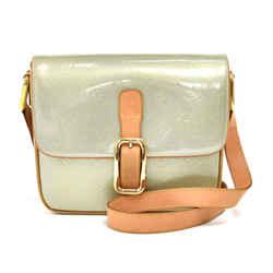 Louis Vuitton Christie Gm Light Green Vernis Leather Shoulder Medium Bag Ls655