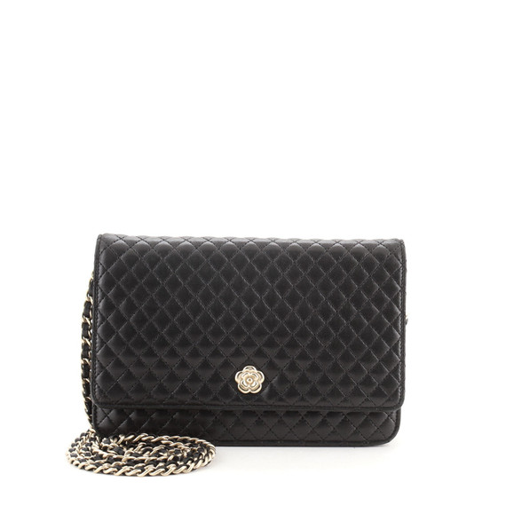 Camellia Wallet on Chain Micro Quilted Calfskin