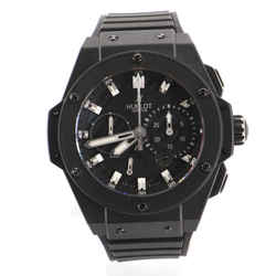 Big Bang King Power Black Magic Chronograph Automatic Watch Titanium and Ceramic with Carbon and Rubber 48