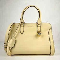 $1345 Alexander Mcqueen Light Yellow Leather Skull Padlock Handbag 419780 7200