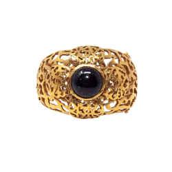 Chanel Vintage Filigree Cc Cuff Bracelet