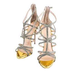 Giuseppe Zanotti Cage Sandals Yellow/Gold Size 8.5 Authenticity Guaranteed