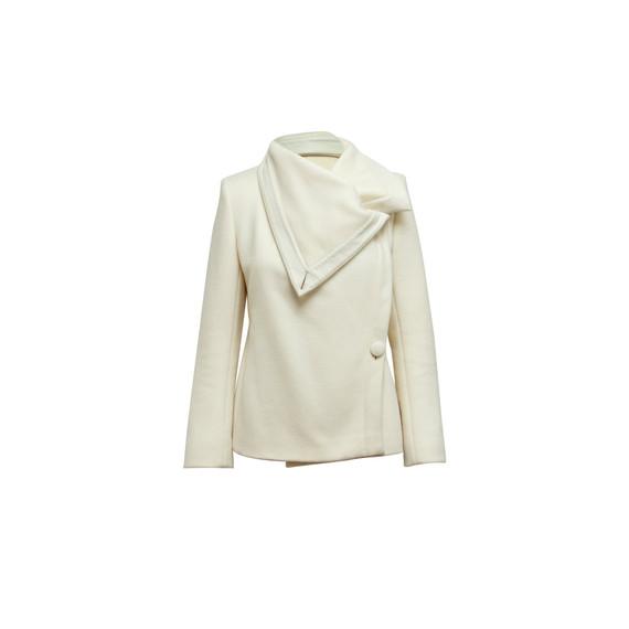 White Max Mara Virgin Wool Jacket