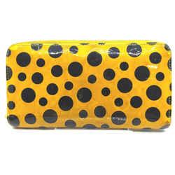 Louis Vuitton Yellow Kusama Infinity Pumpkin Dots Zippy Wallet Zip Around 862217