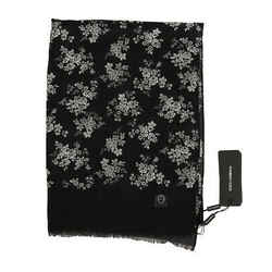 Dolce & Gabbana Gray Cashmere Shawl Floral Men's Scarf