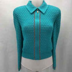 St John Blue Knit Jacket 2
