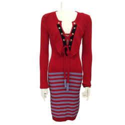 Sonia Rykiel Red Blue Stripe Work/Office Dress