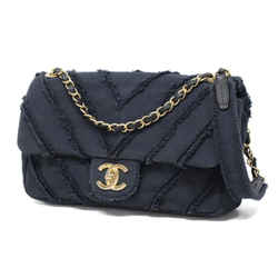 Chanel Chevron Black Medium Classic Chain Flap Cruise Gold Limited 239714