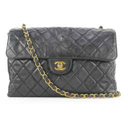 Chanel Black Quilted Vinyl Jumbo Classic Flap Chain Bag 368ccs225