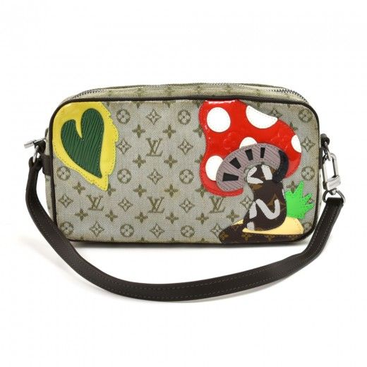 Mushroom Makeup Pouch with Top Handle for Men and Women