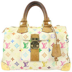 Louis Vuitton White Monogram Multicolor Blanc Speedy 30 Bag 762lvs330