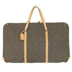 Auth Louis Vuitton Monogram Kabul Garment Bag M41225 Leather