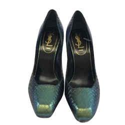 Yves Saint Laurent Iridescent Snake Skin Heels