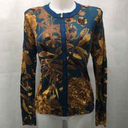 Tory Burch Blue Cardigan Sweater Medium