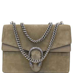 Gucci Medium Dionysus Suede Leather Shoulder Bag Taupe 403348