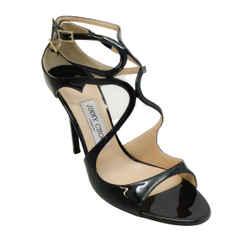 Jimmy Choo Black Patent Lang Sandals