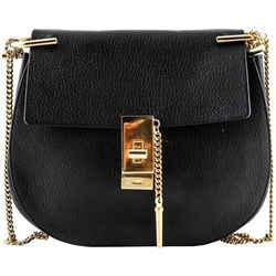 Chloe Drew Mini Lambskin Shoulder Bag Black