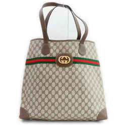 Gucci Brown Supreme GG Large Web Shopping Tote 861272