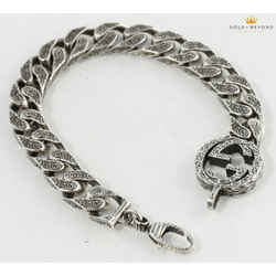 Gucci Interlocking G Chain Bracelet in 925 Silver