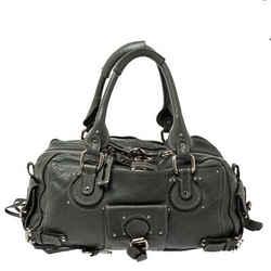 Chloe Olive Green Leather Medium Paddington Satchel